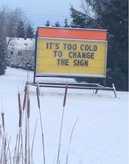 cold can't change sign